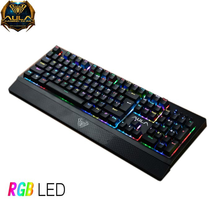 d981af493b4 AULA Wings Of Liberty RGB Full Mechanical Keyboard RGB Led Light - Blue  Switch | Shopee Indonesia