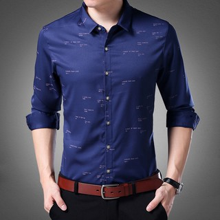 Plus Size Mens Long Sleeve Slim Fit Shirts Formal Shirts Business Shirt Riches And Honour Bird Thin Men Long Sleeve Shirt Garment Printing Age Season Of Cultivate One S Morality Leisure Business Suit