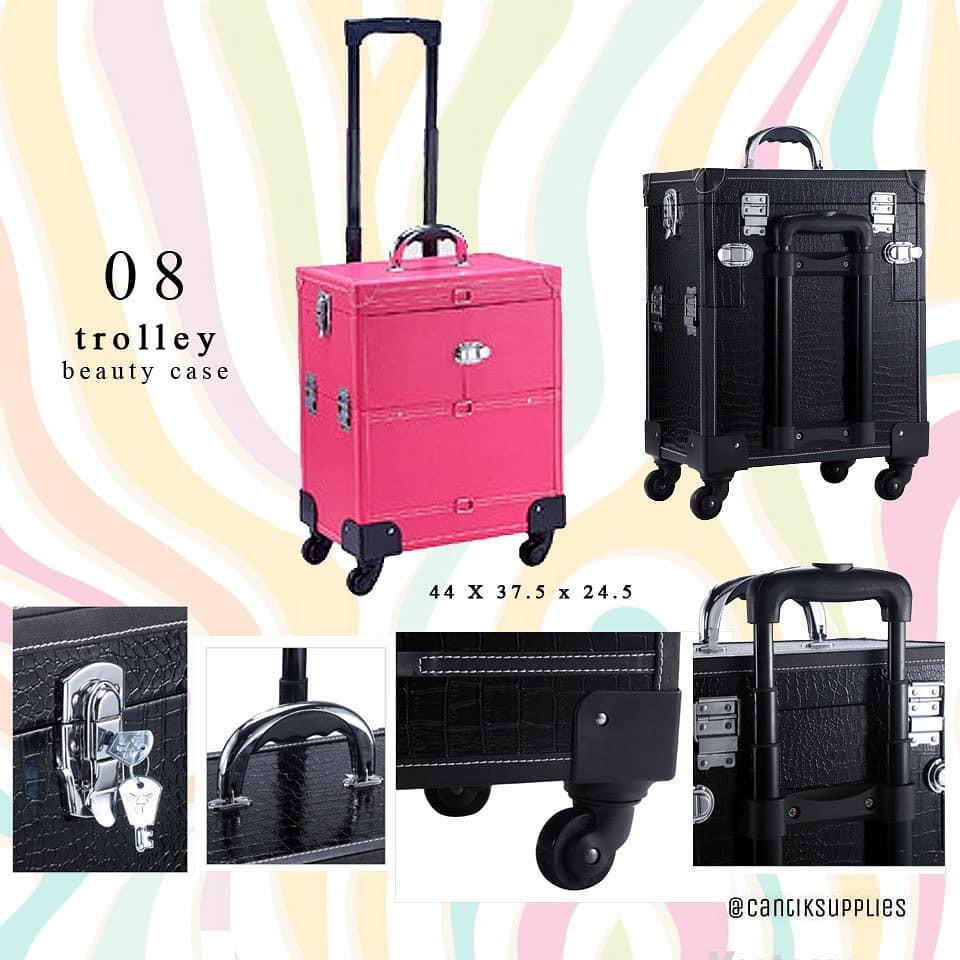 Beauty Case 2susun Motif Polkadot Ada Kaca Pink Referensi Daftar Cylinder Sbs002pk 11 Polka Dot Brush Set Tas Kosmetik