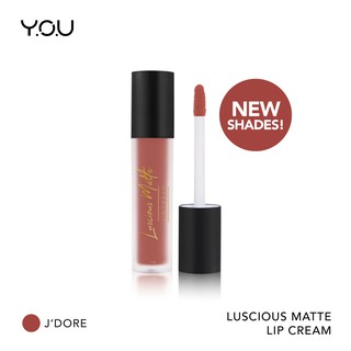 YOU Basic Collection Luscious Matte Lip Cream [ All Day matte Finish/Smooth & Lightweight]