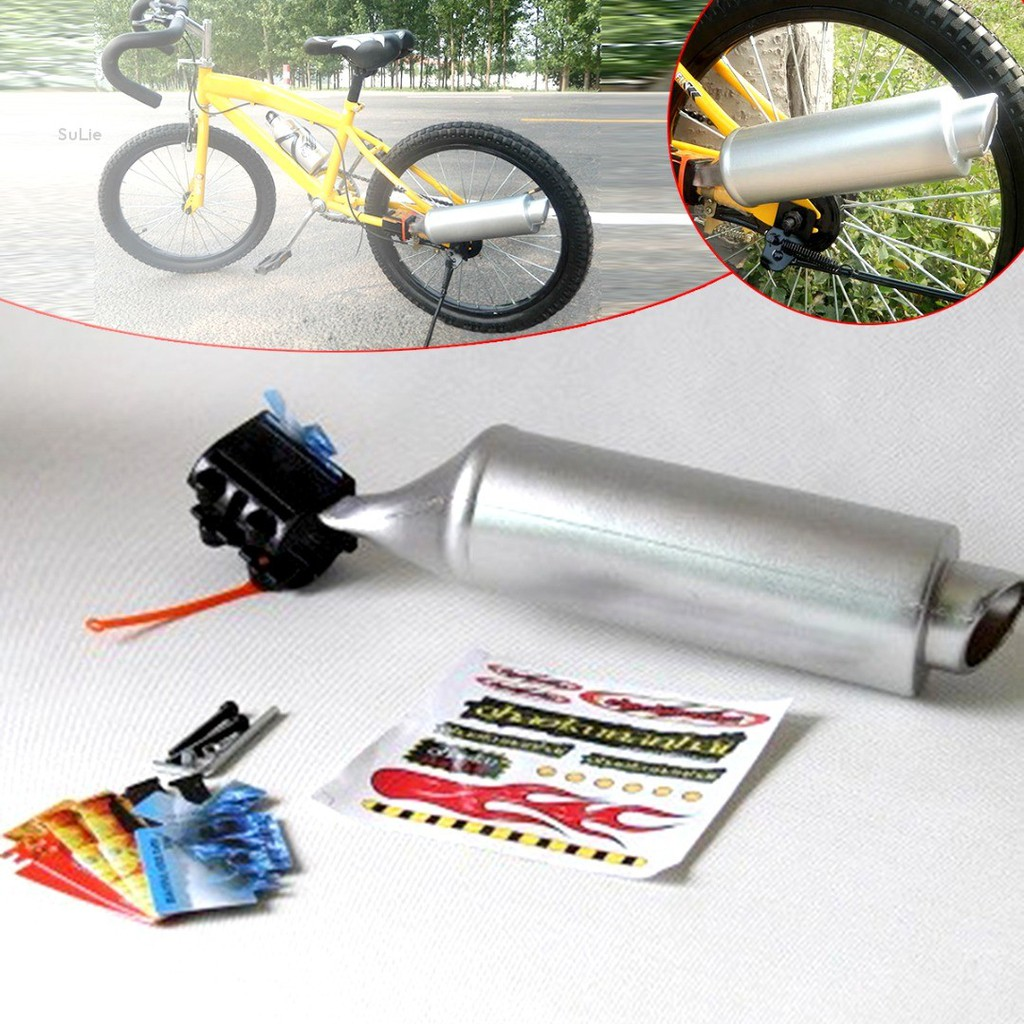 Sulie Bicycle Turbo Spoke Pipe Exhaust System Motorcycle Bike Engine Kid Toy Shopee Indonesia