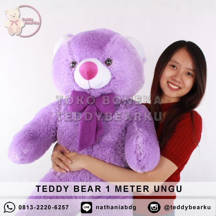 Jual Jual Boneka Teddy Bear Jumbo 1 Meter Warna Hijau Khas Bandung Limited   197c182a43