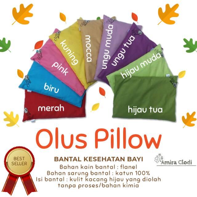 Olus Pillow Bantal Bayi Anti Peyang Isi Kulit Kacang Hijau | Shopee Indonesia