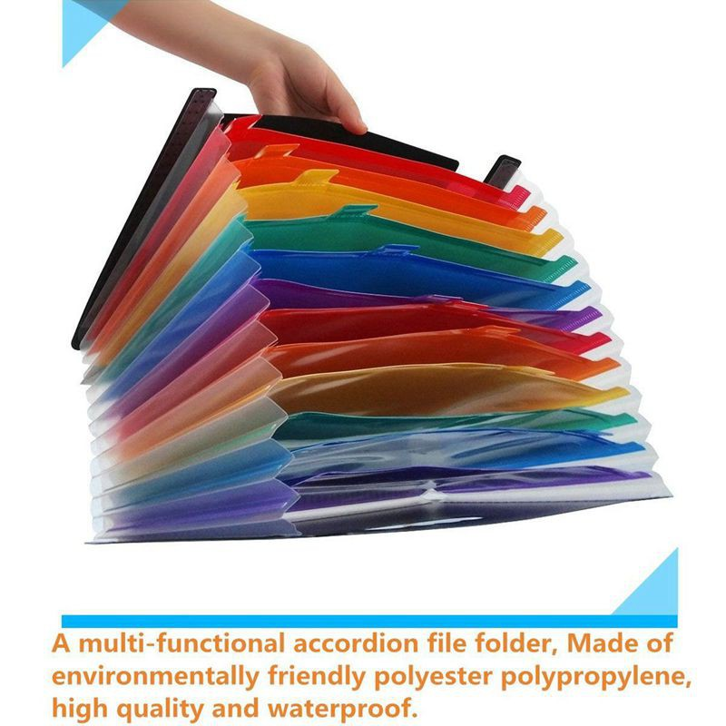 ecdcf4922346 12 Pockets Expanding Files Folder/Portable Accordion File Folder