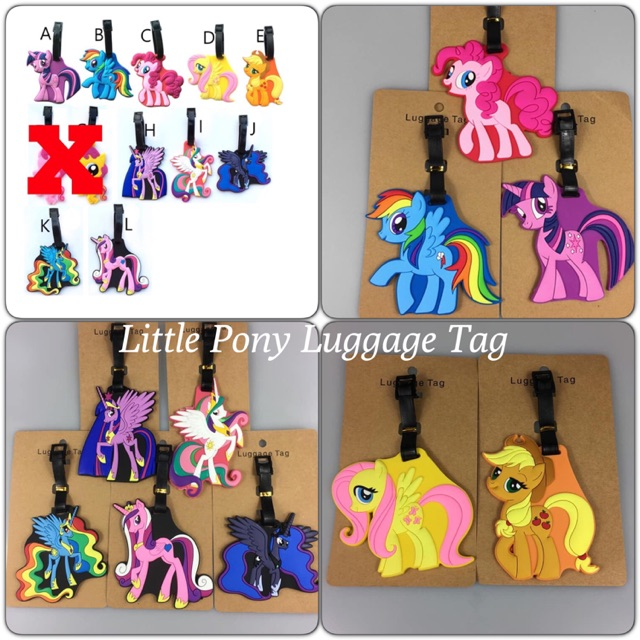 LITTLE PONY LUGGAGE TAG