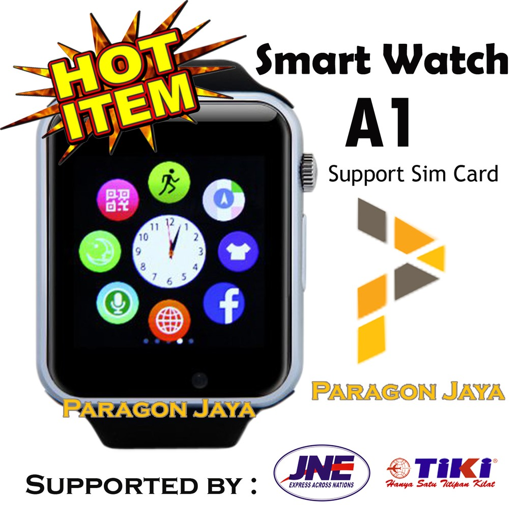 Smart Watch A1 Smartwatch U10 Hitam Silver Simcard Micro Memory Onix Full Black Card No Box Shopee Indonesia