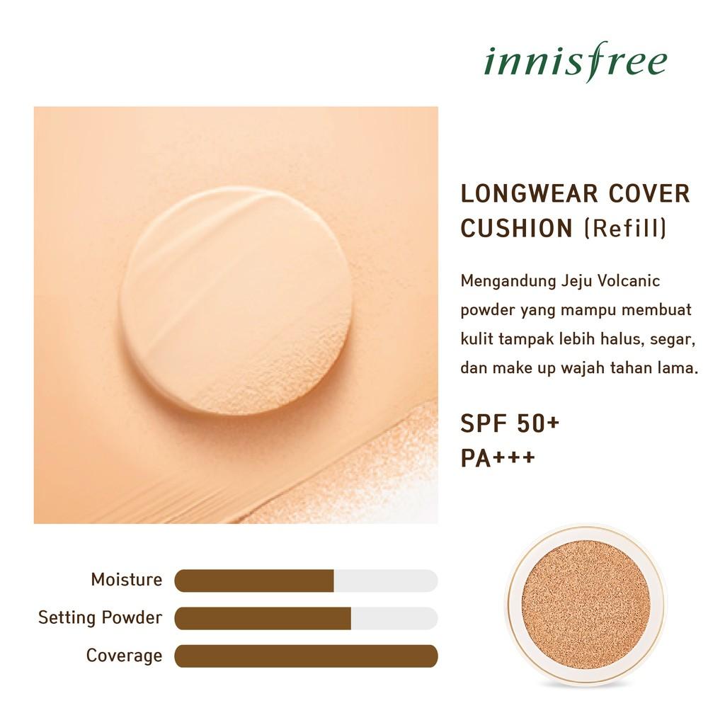Innisfree Longwear Cover Cushion Spf 50 Pa 14g Refill N31