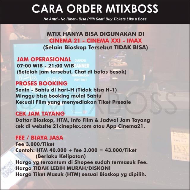 Tiket Bioskop Online Cinema21 Xxi Imax Seluruh Indonesia