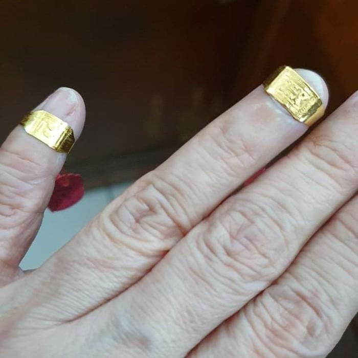 Cincin bayi 95% emas asli 24k 24 karat 0,5gram 0,5 gram Limited