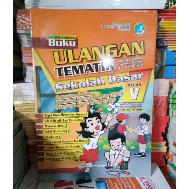 Buku Ulangan Tematik Sd Kelas 5 Lengkap Dari Tema 1 9 Plus Kunci Jawaban Shopee Indonesia