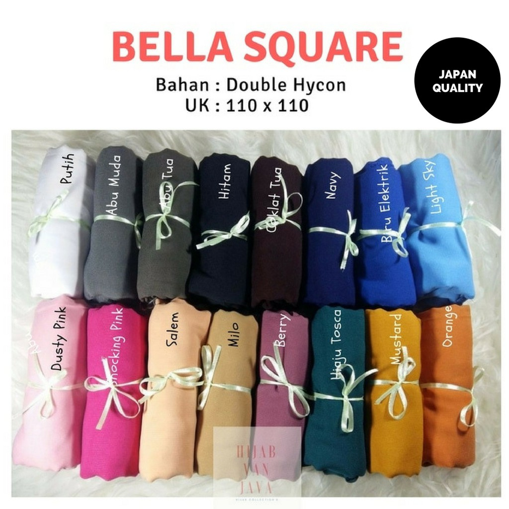 Daily Hijab Bella Square Shopee Indonesia