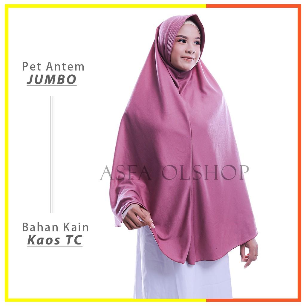 Jilbab Instan Khimar Jumbo Pet Antem Hijab Kaos Kerudung Bergo Syari Termurah Shopee Indonesia