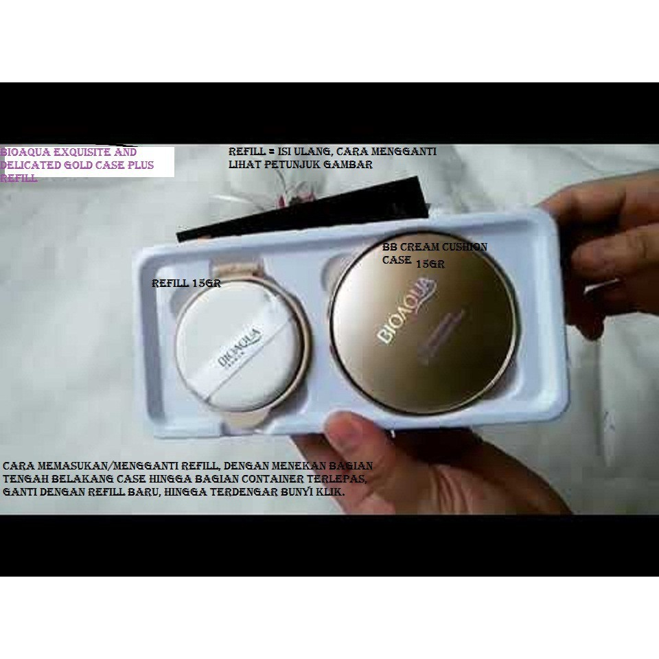 Bioaqua Exquisite And Delicate Bb Cream Air Cushion Gold Case Plus Natural 01 Bedak Padat Make Up Professional Compact Powder Refill Shopee Indonesia