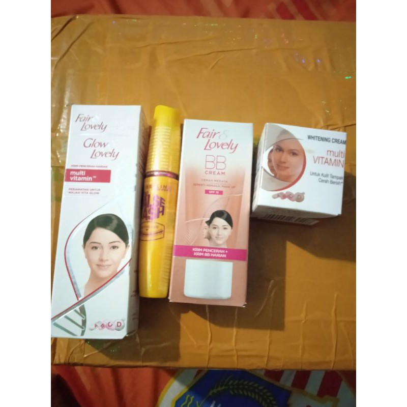 PAKET GLOWING FAIR AND LOVELY ORIGINAL BPOM 4IN1