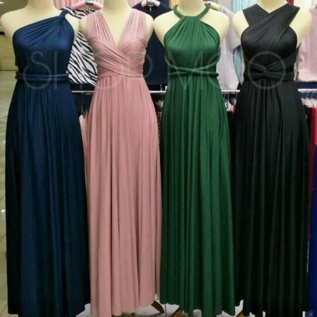 Longdress Gaun Pesta Convertible Infinity Dress Shopee Indonesia