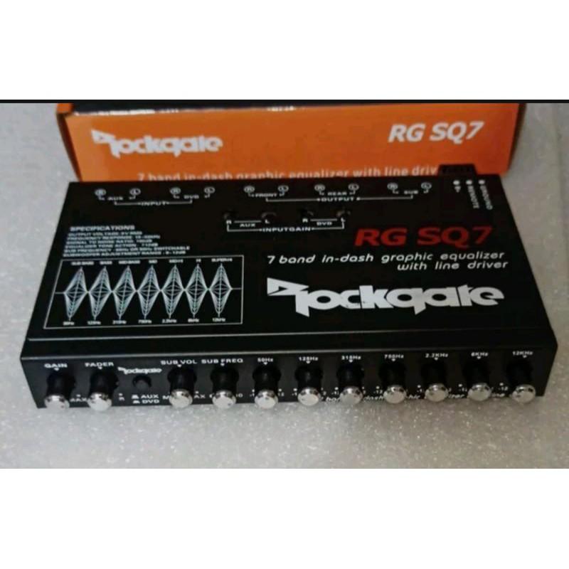 Parametrik Equalizer Rockgate RG SQ7 - 7 Band Pream - Sound Quality
