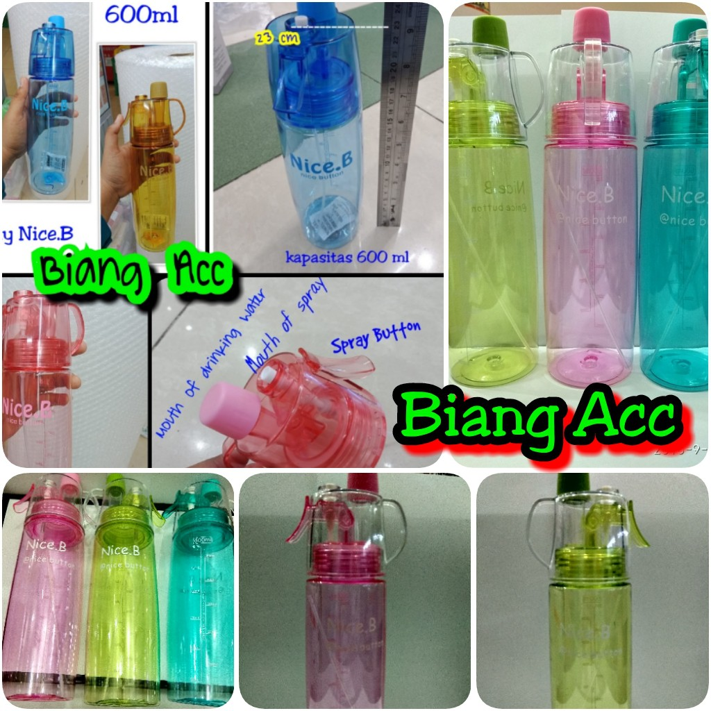 [194gr] HIHI A171A [NO DUS] sport spray water bottle / botol minum semprot / new b   Shopee Indonesia