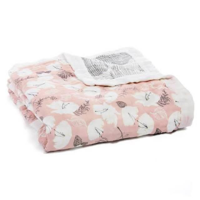 Pretty Petals//Soft Petals single Aden Anais Bamboo Swaddle Wrap