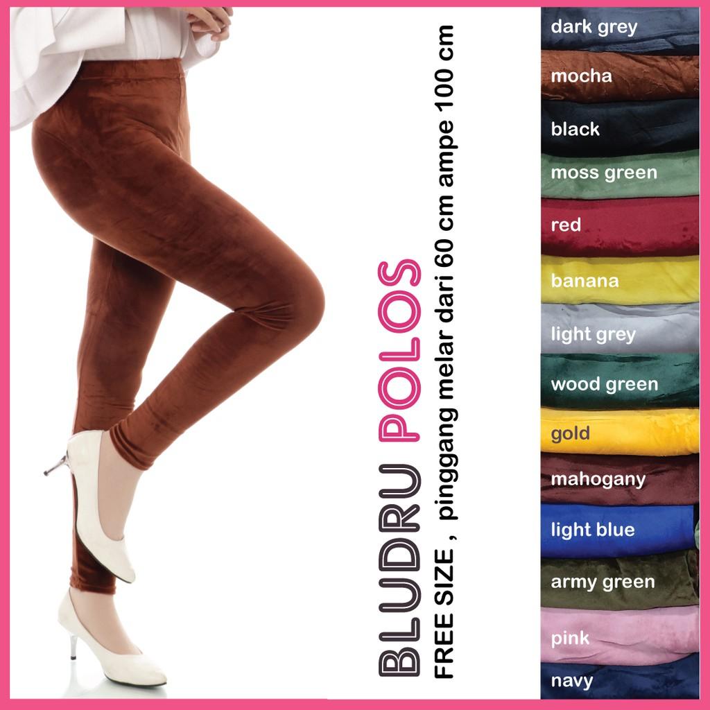 Legging Bludru Polos A121 Celana Legging Bludru Velvet Jumbo Wanita Legging Jumbo Wanita Shopee Indonesia