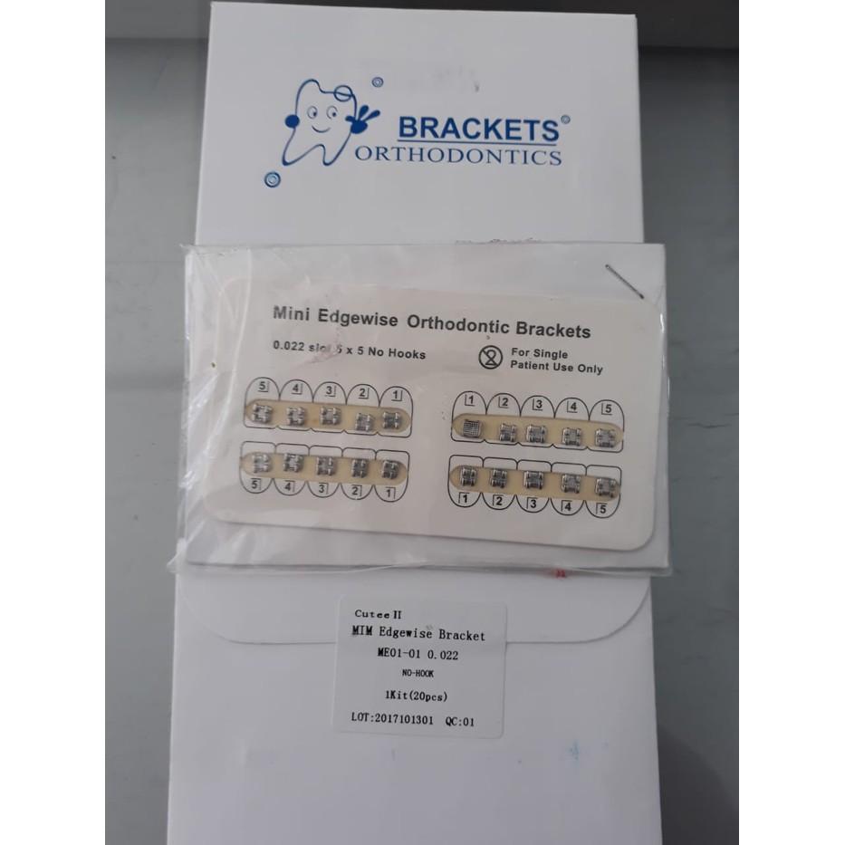 Bracket Amplop Mini Metal Edgewise Orthodontics Shopee Indonesia Isi 10  Best Seller Behel Permanen