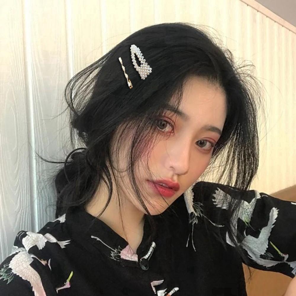 4 PCS Pearl Women/'s Hairpin Bangs Clip Hair Accessories Korean Fashion