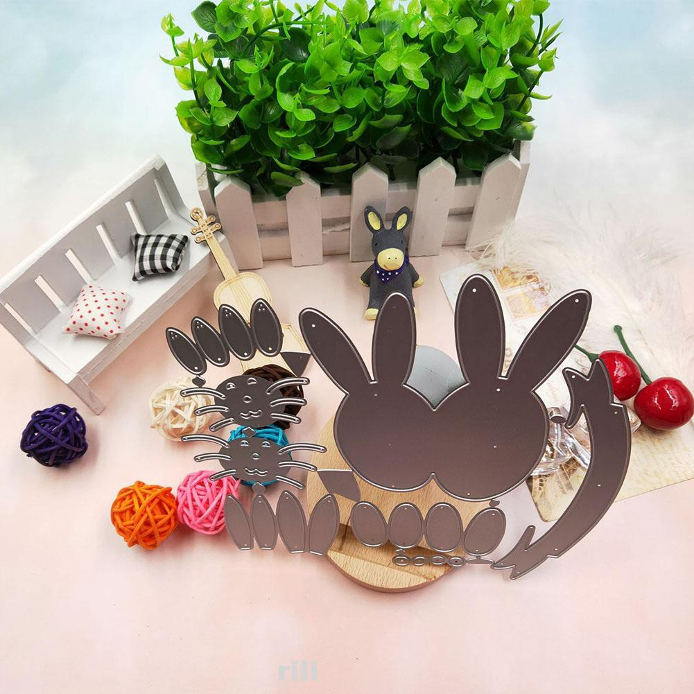 173x144mm Decorative Easter Embossing Rabbit Pattern Scrapbooking Cutting Dies Shopee Indonesia