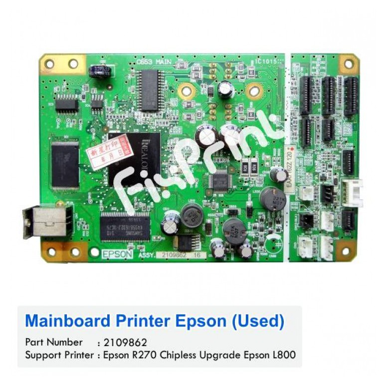 Mainboard Motherboard Epson R270 Chipless Upgrade L800, R270 to L800