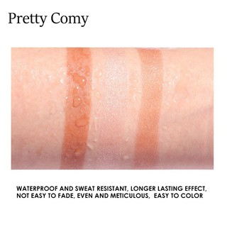 Pretty Comy Makeup Blush On Palet 3 warna Blush Highlight Makeup 3