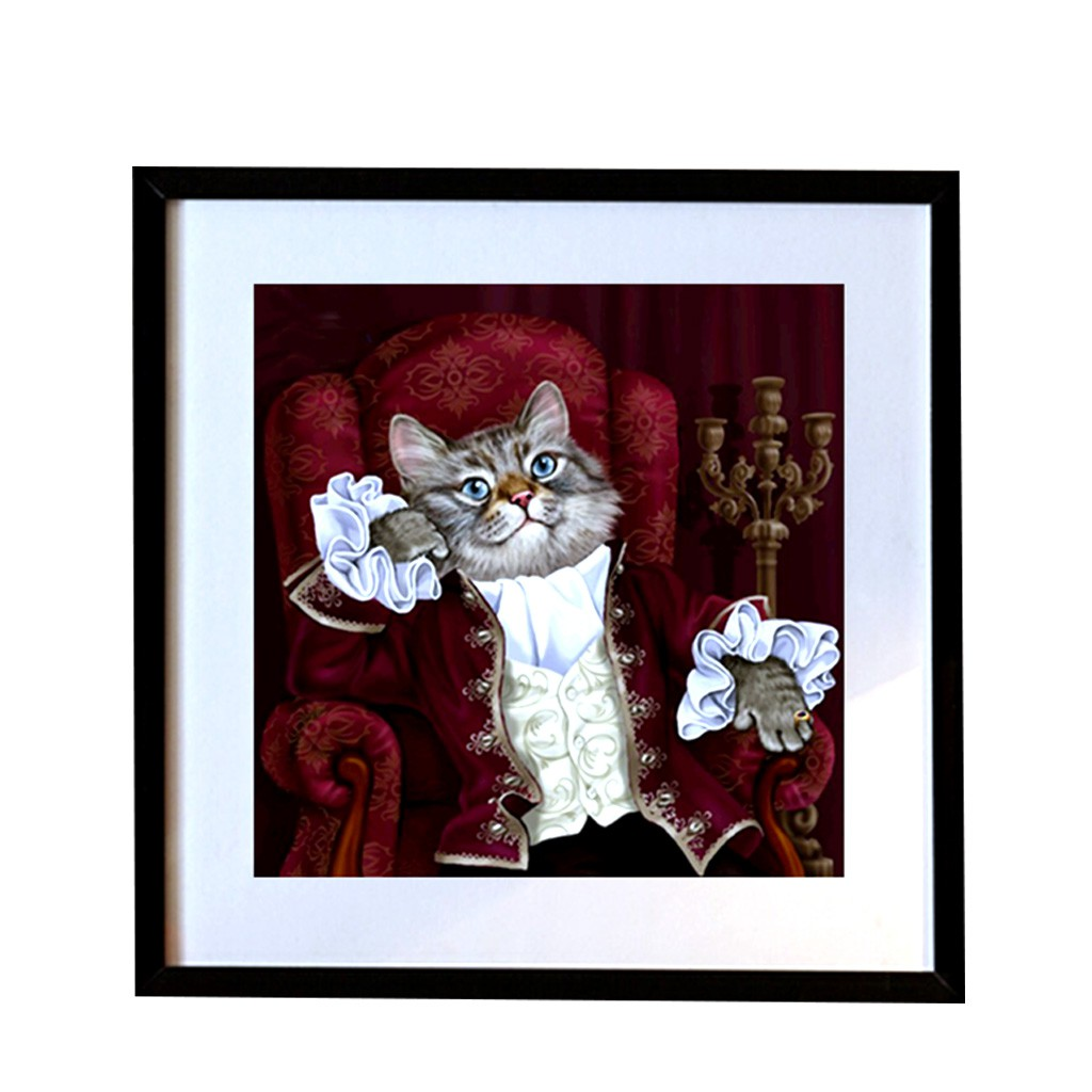 5D Full Diamond Paintings DIY Cats Embroidery Cross Stitch Kit Room Decor Crafts