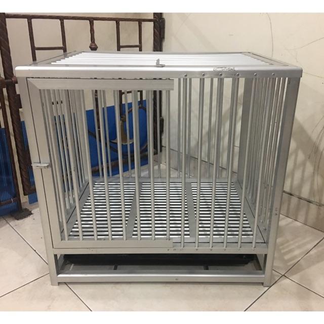 Kandang aluminium anjing kucing hewan peliharaan | Shopee ...