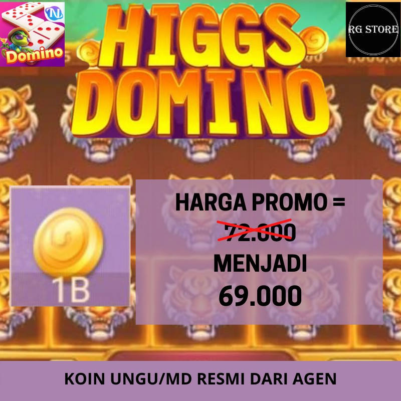 TOP UP KOIN DOMINO HIGGS 1B - CHIP KOIN DOMINO HIGGS MURAH - CHIP DOMINO UNGU/ MD LEGAL