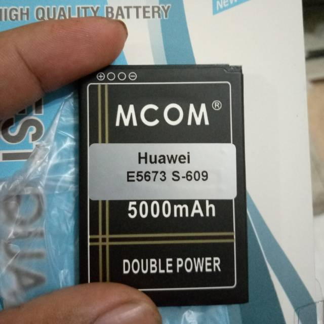 BATERAI MCOM HUAWEI E5673 S-609 DOUBLE POWER 5000MAH