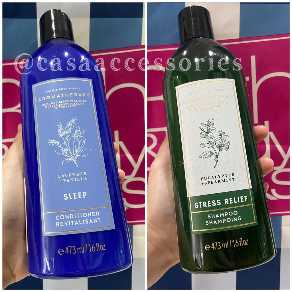 Bath and Body Works BBW Aromatherapy Shampoo Shampo / Conditioner - 473ML-1
