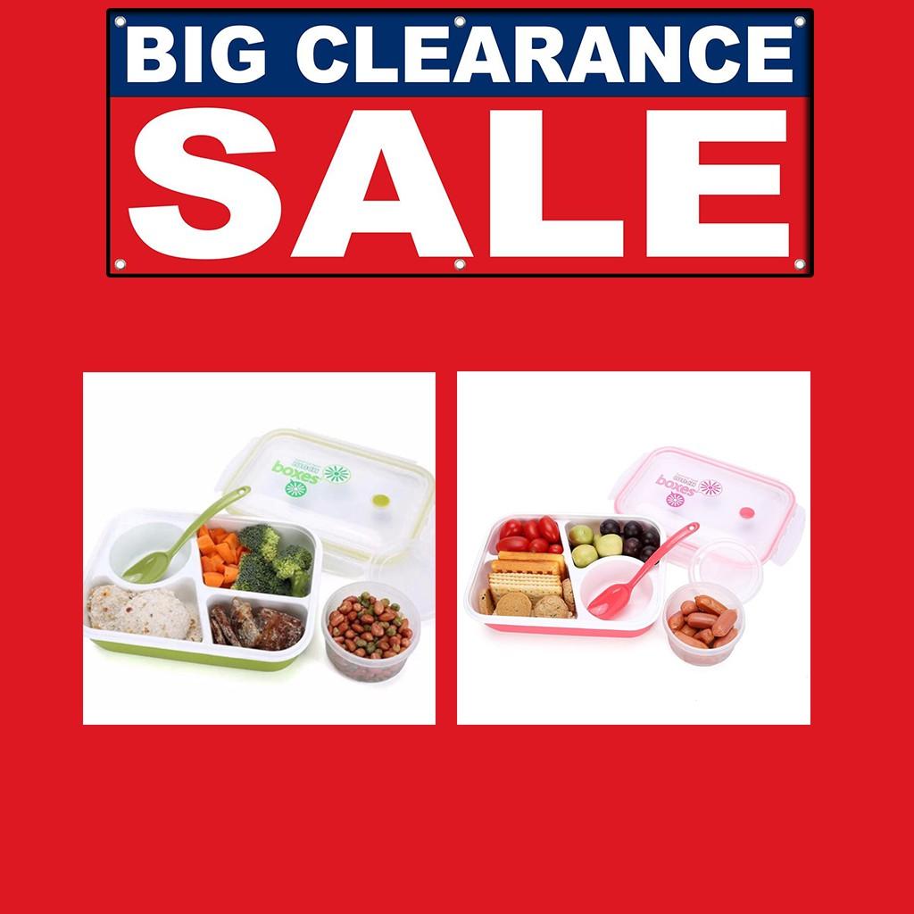 Lunch Box Yooyee Mini Bento Kids Sekat 3 Dan 4 Leakpproff Leakproof 578 Kotak Makan Anti Bocor Tosca Grid Tempat Shopee Indonesia
