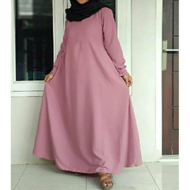 Cod Terlaris Gamis Wolfis Polos Premium Gamis Polos Wolfis Gamis Fashion Muslimah Shopee Indonesia