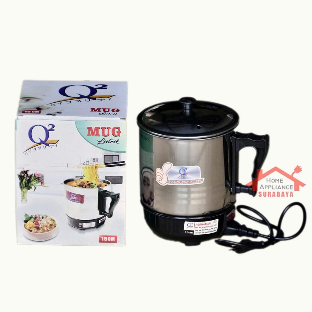 Teko Listrik 11 Cm Mug Elektrik Q2 Pemanas Praktis Electric Heating Cup 11cm Shopee Indonesia