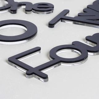 cod tjm jam dinding 3d diy acrylic desain huruf underline