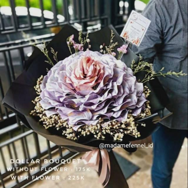 Dollar Flower/Money Flower/Hand Bouquet Dollar Flower/Jasa Buket Uang/Kado/Buket Duit/Buket Uang