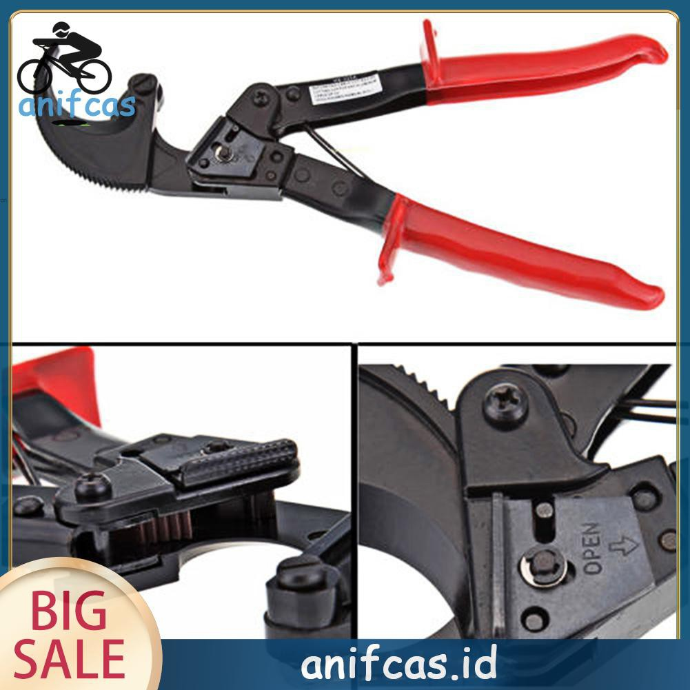 Ratchet Cable Wire Cutter Wire Stripper Plier Cut Up to 240mm/² HS-325A Cutting Range Max.32mm