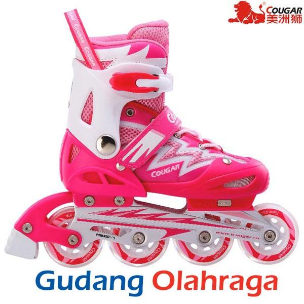Sepatu Roda COUGAR Inline Skate MZS835L Pink  590e06ef93
