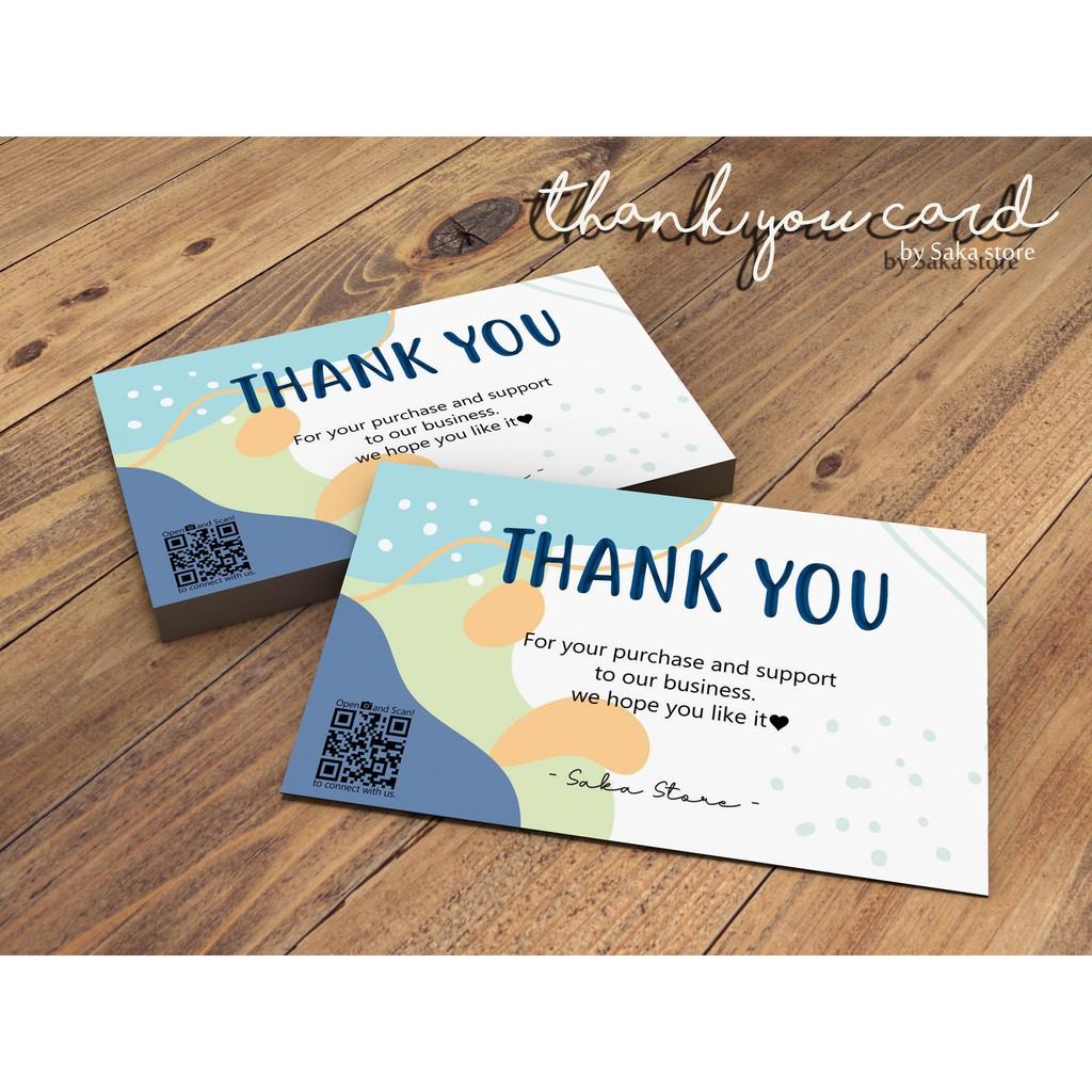 kartu ucapan terimakasih online shop custom  thank you