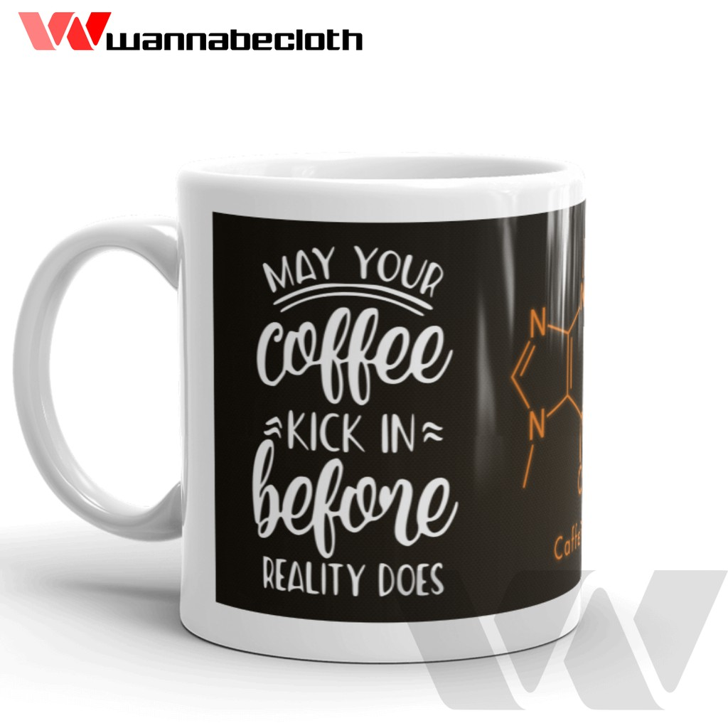The Mug Coffee >> Mug Coffee Mug Kopi Barista Mug Custom Cetak Coffee Mug The Caffeine Formula V1