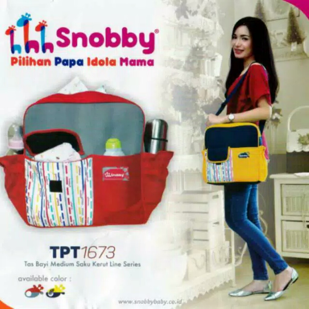 d0856ec0d71 Snobby Tas Bayi Medium Line Series TPT1673 | Shopee Indonesia