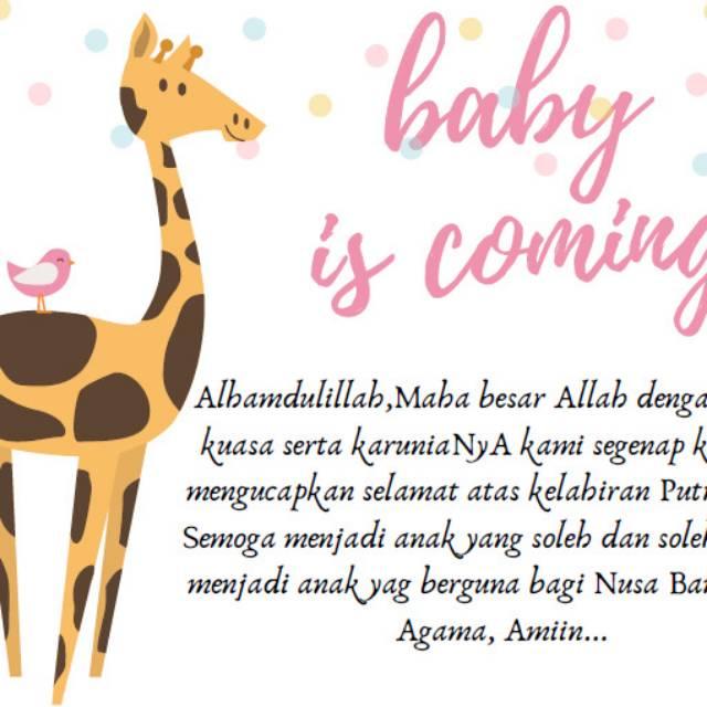 Kartu Ucapan Kelahiran Bayi Shopee Indonesia