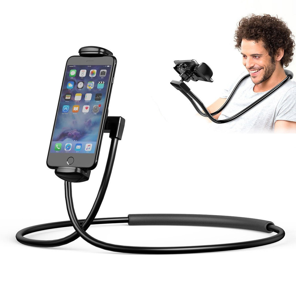 Flexible Neck Lazy Bracket Mobile Phone Stand Holder Mount for iPhone Samsung LG | Shopee Indonesia