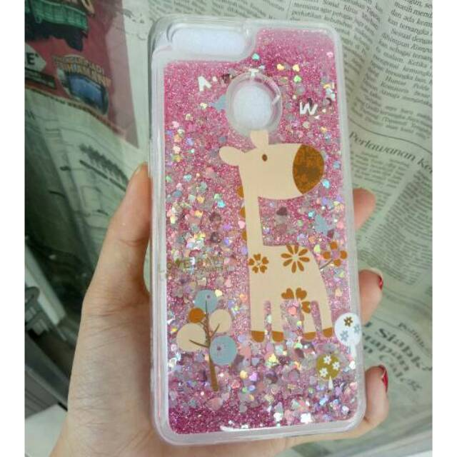 Case Water Glitter Oppo A83 Softcase Casing TPU Doraemon Tsumtsum Stitch Cat Cute Air | Shopee