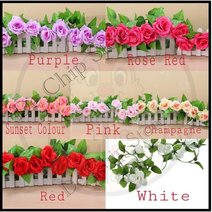 Bunga Mawar Hias Prancis French Rose Artificial K-5 Impor Murah ... 5d674b0268