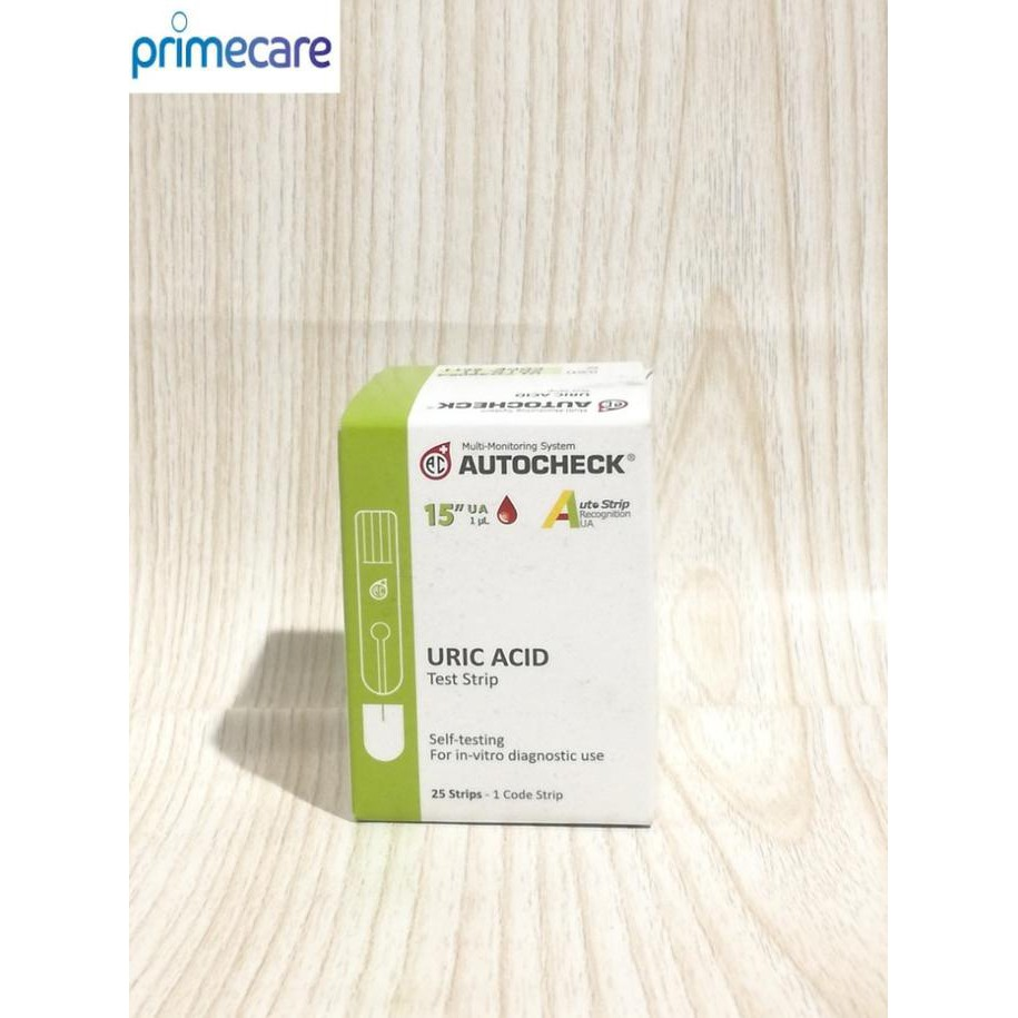 Strip Autocheck Asam Urat Uric Acid Murah Shopee Indonesia Nesco Urid