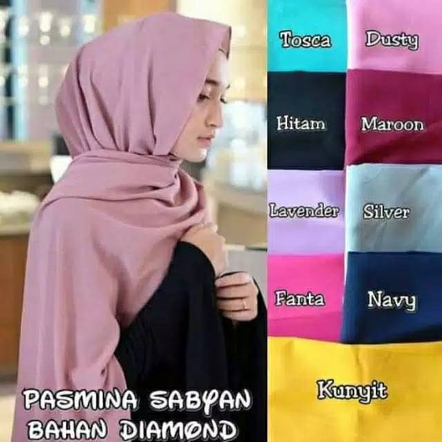 Pashmina Sabyan Diamond Ukuran 155x75 Part 2 Shopee Indonesia