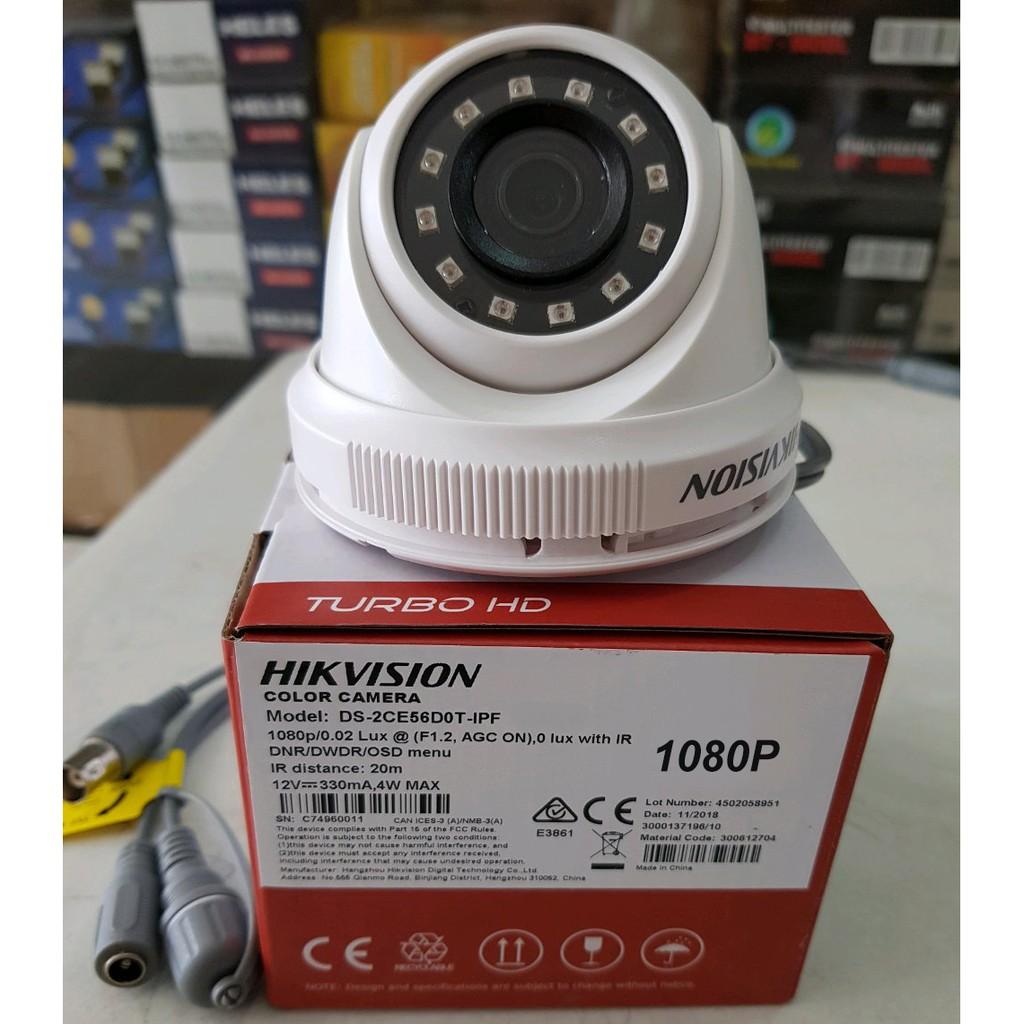 KAMERA CCTV HIKVISION TURBO HD 1080P DS-2CE56D0T-IPF 2MP INDOOR CCTV CAMERA  4 in 1 TVI/AHD/CVI/CVBS
